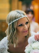 Bridal frente Casco, joyas de Vid Boda Cabello Accesorio de la cadena de cabeza de Halo