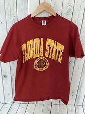 b1901301 VTG Florida State Seminoles Spell Out Shirt Russell Athletic Large USA Made  Z3