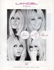 Publicité Advertising 2010  LANCEL  sac à main collection mode le B. Bardot