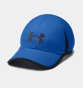 NEW Under Armour Mens Shadow 4.0 Heatgear Running Cap-Blue/Black OSFA