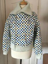 Rockabilly leather jacket bomber ROXY polka dot Size 2 10 -12