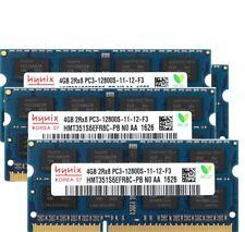 Lot Hynix 16GB 8GB 4GB 1GB PC3-12800S DDR3 1600Mhz 204Pin 1.5V CL11 Laptop RAM