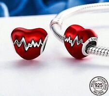 AUTHENTIC PANDORA CHARM  925 STERLING pandora BRACELET red heart NEW