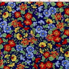 """NEW Shop Hop Floral 100% cotton 44"""" wide Designer fabric by the yard (36"""")"""