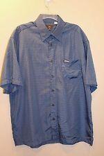 McDonalds Adult Halloween Costume Fast Food Blue Plaid Uniform Shirt Men XL