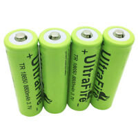 4X 18650 8800mAh 3.7V Li-ion Rechargeable Battery for Flashlight Torch