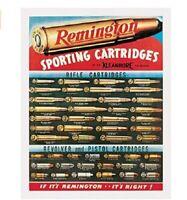 REMINGTON CARTRIDGES TIN SIGN HUNTING AND SHOOTING METAL POSTER WALL ART