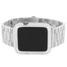 Apple Watch Custom  Simulated Diamond 925 Silver Custom Band Strap 42mm