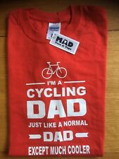 Size M  Red, I'm A Cycling Dad, Except Much Cooler T-Shirt By Mad Tees & Tops