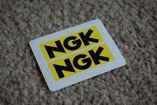 NGK Spark Plugs Classic Race Racing Car Rally Bike Stickers Black Yellow 50mm