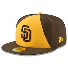 NEW ERA SAN DIEGO PADRES AUTHENTIC COLLECTION 59FIFTY FITTED HAT MLB BROWN/GOLD