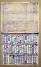 Vintage Artist's Pastels 60 Pastels In A Wood Box
