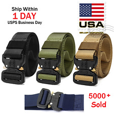 Casual Military Tactical Belt Mens Army Combat Waistband Rescue Rigger Belts
