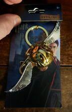 Harry Potter Golden Snitch Metal Keychain Keyring Gold & Silver Tone Metal 48002
