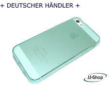 Neu Apple Iphone 5 Silikon Hülle Schutzhülle Tasche Case Etui Transparent Grün