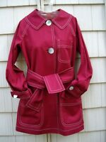 NWT CHARLES NOLAN ROUGE RED Belted Jacket $650~CHIC~