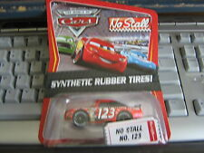 DISNEY PIXAR CARS NO STALL NO. 123 SYNTHETIC RUBBER TIRES!!