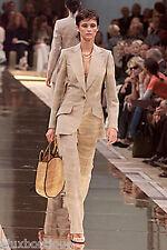 GENNY Silk JACKET Blazer Beige Taupe Hand Sewn Pockets 40 6 8 NEW w TAGS 3K+