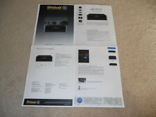 McIntosh MCD751 CD Brochure, 4pg, Articles, Specs, Info