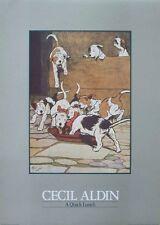 Un pranzo VELOCE-CECIL ALDIN -30 CMS x 40cms 1986 STAMPA D'EPOCA, Pacco di Hounds