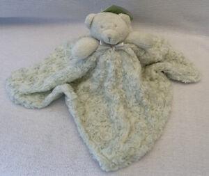 BLANKETS & BEYOND NWT Lt Green Bear Lovey Security Blanket Nunu Swirled Rosettes