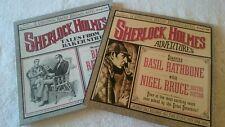 SHERLOCK HOLMES ADVENTURES  w/BASIL RATHBONE w/NIGEL BRUCE 2 BOX SETS 5 records