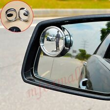 2PCS Auto Accessories Wide Angle Convex Clear Rear View Side Blind Spot Mirror