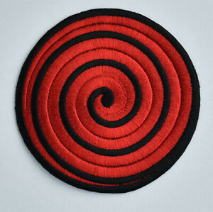 Naruto red spiral Iron on Patch