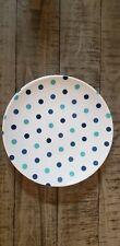 Set of 4 Blue Polka Dot Plastic Plates