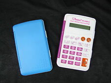 Pink Pocket calculator 8 Digit Desktop Foldable wallet Handheld Memory Auto