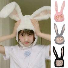 Cute Kids Baby Girls Hat Plush Rabbit Bunny Ears Earflap Cap Head Warmer Cosplay