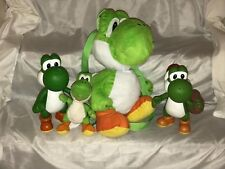NINTENDO YOSHI PLUSH BACKPACK & FIGURES LOT OF 4 SUPER MARIO BROS