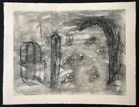 Rolf Rose, Halde, Radierung, 1986, handsigniert und datiert