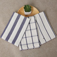 Striped Linen cotton Napkin placemat heat insulation dining table mat Home Decor