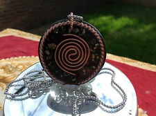 """Tensor Ring & Tesla Coil  Orgone Amulet + FREE 2mm x 22"""" Stainless Steel Chain"""