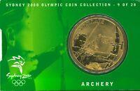 Australia Mint $5 Bronze Coin Archery Folder Sydney Olympics Commemorative issue