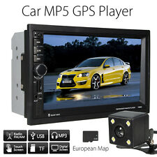 "ITALIANO 7"" HD GPS BLUETOOTH AUTORADIO 2 DIN TOUCH SCREEN MP5 USB +MAPPA +CAMERA"