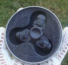 Darth Vader Black Metal Fidget Spinner Star Wars w Tin Box  *USA SELLER