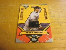 Kenny Rogers 2006 Topps Update All Star Stitches #KR Jersey Relic Card Tigers