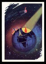 Russian USSR Soviet Propaganda firtst sputnik Space Very Rare! Kremlin 1964