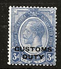 SOUTH AFRICA  (758)1913 SGW9 3d ULTRAMARINE CUSTOMS DUTY VERY FINE MM / MH