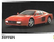 FERRARI 512 TR,MONDIAL,MONDIAL t CABRIOLET AND 348 tb,348/ts 512TR BROCHURE 1992