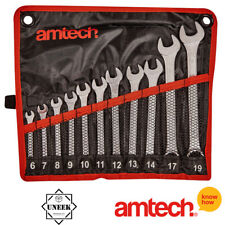 11Pcs Spanner Wrench Set Metric Combination Drop Forged In Wallet Amtech - K0400