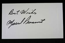Marcel Pronovost Hof Signed Autograph Index Note card c. 1970 Maple Leafs