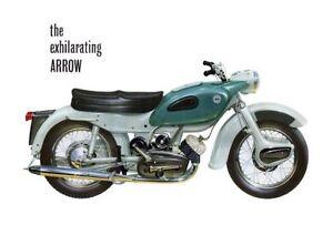 1961 Ariel Arrow 250cc motorcycle poster