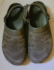 Crocs clogs brown Adjustable Straps Mens Size 12 chocolate brown color