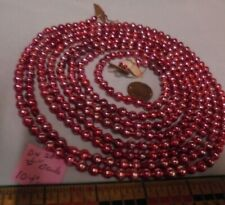 "Christmas Garland Mercury Glass Pink-Purple 104"" Long 1/4"" Beads Dn20 Vintage"