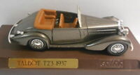 Solido 1/43 Scale Metal Model - SO240 TALBOT T23 1937 SILVER