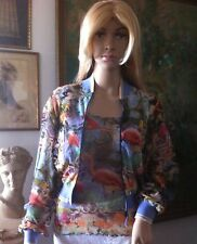 Jean Paul Gaultier Twin Set Camisole M Top Large Sweater Jacket Multi Color New