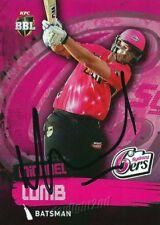 ✺Signed✺ 2015 2016 SYDNEY SIXERS Cricket Card MICHAEL LUMB Big Bash League
